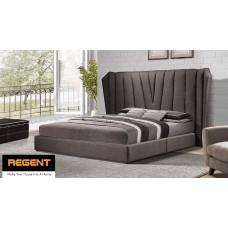 Fabric Cushion Y Elegant Look High Bed-Head Bed