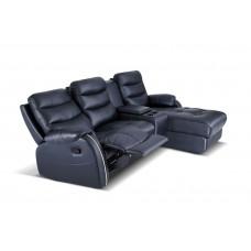 3L + Console Half Thick Leather Sofa