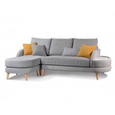 3 Seater Sofa with Footstool