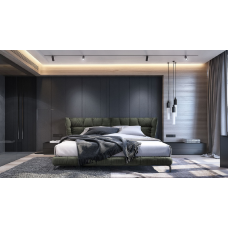 Elegant Look Fabric Cushion Y Bed