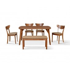Evergreen Dining Set ( 1+1+4 )