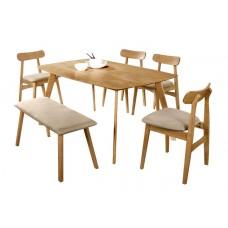 Tenza Dining Set ( 1+1+4 )